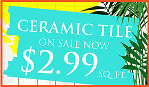 Daltile Ceramic tile on sale now!  Only $2.99 sq.ft.