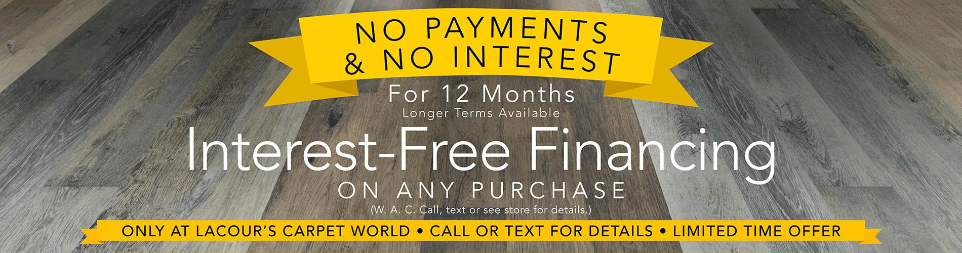 Flexible Financing Available at LaCour's Carpet World in Baton Rouge