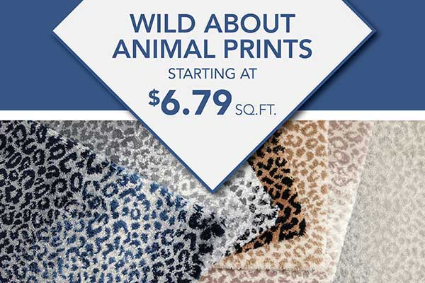 Animal Print carpet and rugs starting at $6.79 sq.ft at LaCour's Carpet World in Baton Rouge