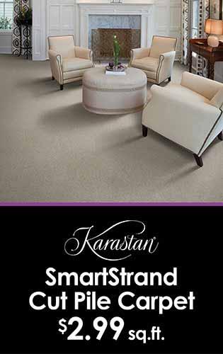 Karastan Smartstrand cut pile carpet $2.99 sq.ft. at LaCour's Carpet World