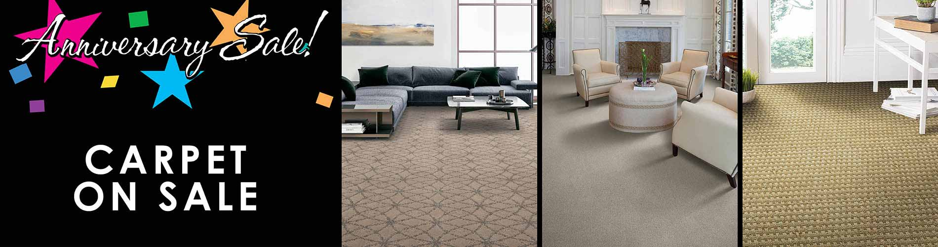 Save on carpet during our anniversary Sale at LaCour's Carpet World