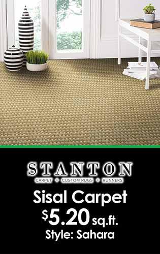 Stanton Sisal Carpet $5.20 sq.ft. at LaCour's Carpet World