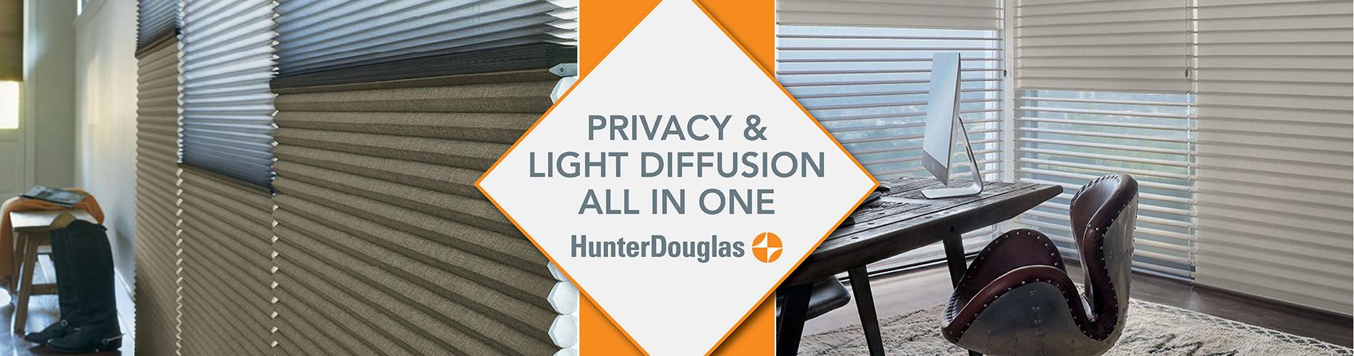 Hunter Douglas Privacy & Light Diffusion All in One!