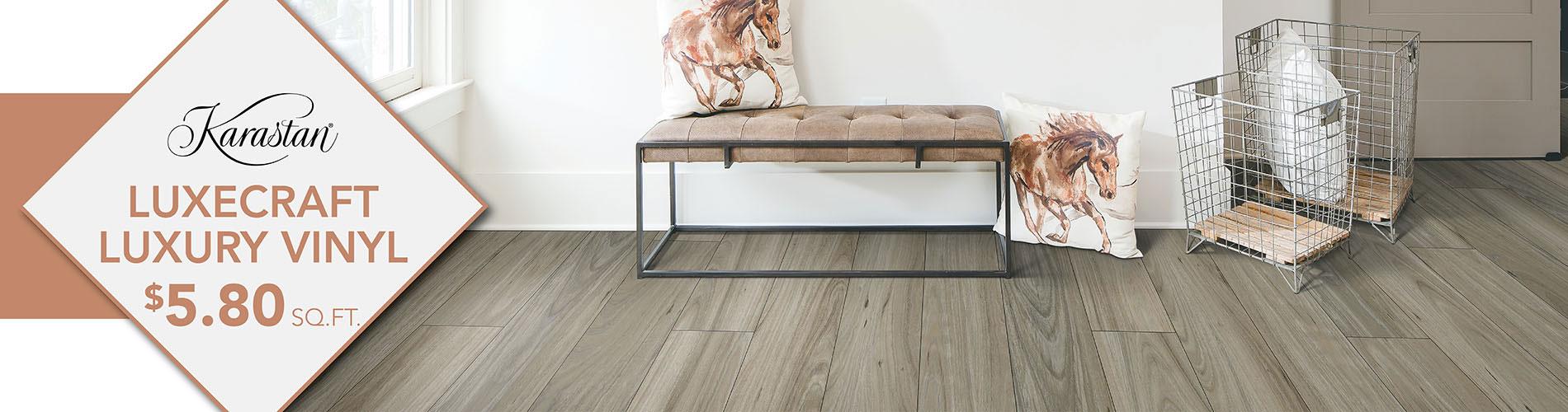 Karastan Luxecraft Luxury vinyl $5.80 sq. ft.