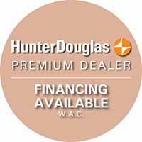 Hunter Douglas premium dealer. Financing available